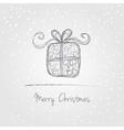 Christmas gift doodle vector image