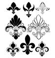 Set of Fleur De Lis vector image