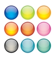 Set of network sphere icons vector image