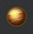 The Jupiter in space vector image vector image