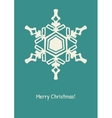 Abstract snowflake on color background vector image