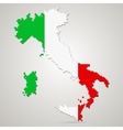Creative pixel Italy map vector image