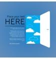 Opend door success vector image