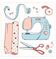 set of items for handmade vector image