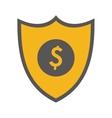 shield dollar sign icon vector image