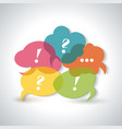 speech bubbles icons with a question mark an vector image