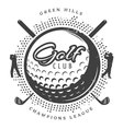 Vintage Golf Logotype vector image