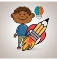 boy idea brain vector image