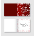 Christmas greeting card template with Let It Snow vector image vector image