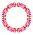 day of kisses circular frame vector image