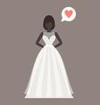 Lovely bride female in wedding dress design vector image