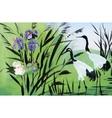 Heron birds watercolor vector image