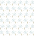 Snow Flakes Gray and Gold on White Background vector image