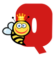 Letter Q With A Queen Bee vector image
