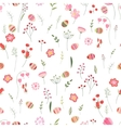 Stylized easter seamless pattern with cute flowers vector image vector image