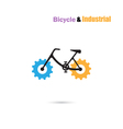 Bicycle Logo design icon and gear sign vector image