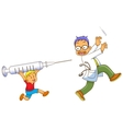 boy and doctor vector image