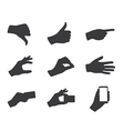 business hand gestures silhouette vector image