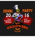 Halloween Party Design template with zombie and vector image