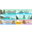 mountain landscapes backgrounds vector image