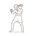muay thai thai boxing standing vector image