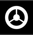 steering wheel it is icon vector image