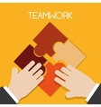 Teamwork design vector image