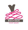 woman dress boutique or fashion atelier salon vector image