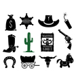 Wildwest set vector