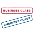 Business Class Rubber Stamps vector image