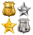 Police badge set vector image vector image