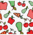figure vegetables and fruits background icon vector image
