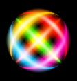 abstract rainbow ray sphere on black vector image vector image