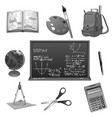 school study or education icons set vector image