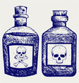 Glass bottles of poison vector image vector image