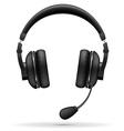 acoustic headphones 03 vector image vector image