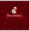 Merry Christmas postcard with snowman vector image