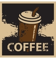 coffee cup in retro style vector image