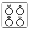 Diamond engagement ring icons set 1 vector image