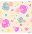 Background with soothers vector image vector image