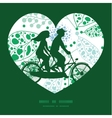 abstract blue and green leaves couple on vector image