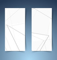 Abstract geometrical halftone grey line banner vector image