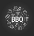 bbq concept on black vector image