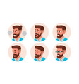 character business people avatar bearded vector image