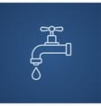 Dripping tap with drop line icon vector image