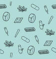 drugs outline isometric icons pattern vector image