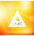 Orabge tiangle abstract background vector image