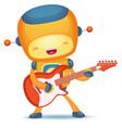robot playing guitar vector image
