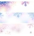 Snow christmas banners vector image