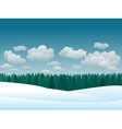 snowy winter landscape vector image